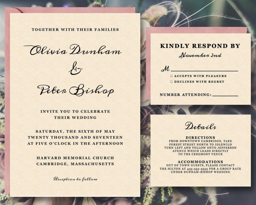 Mariage - 25% OFF - Printable Wedding Invitation Template Suite