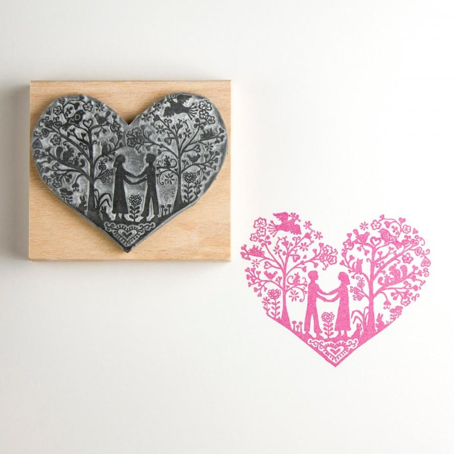 Mariage - You & Me Wedding Rubber Stamp