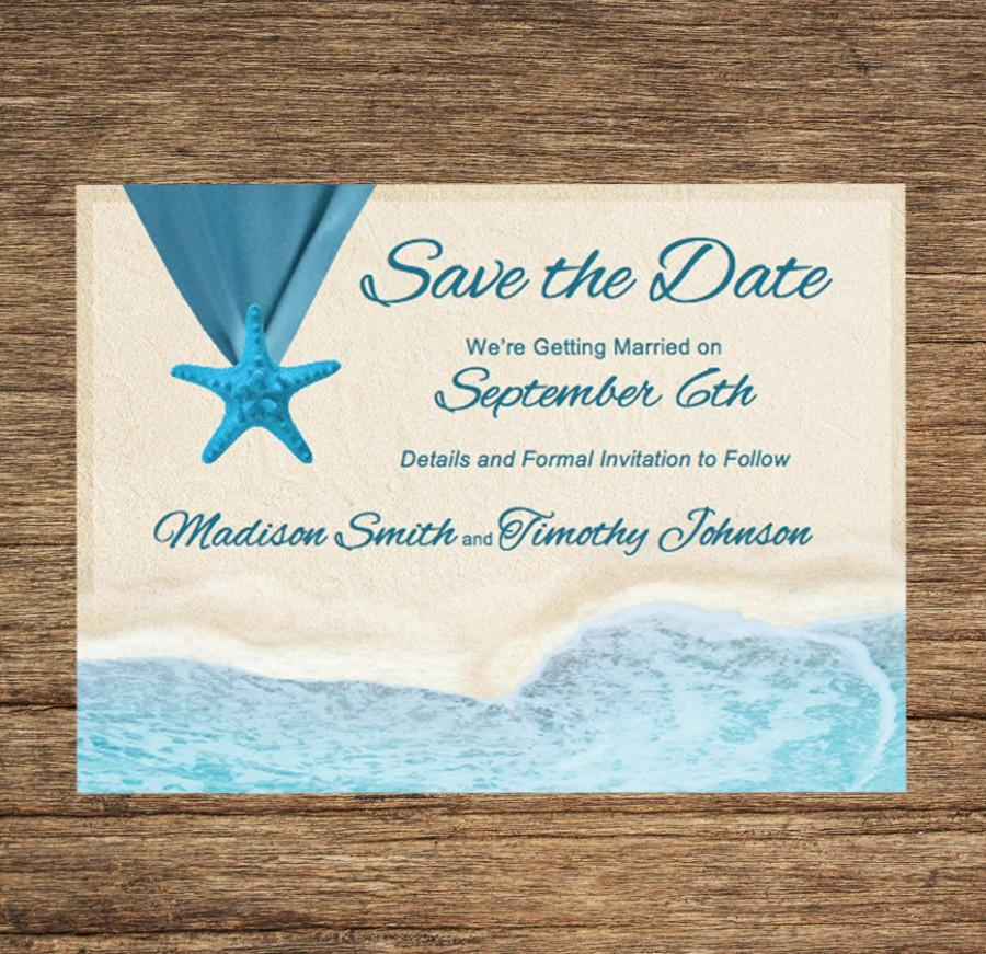 Mariage - Beach Save The Date BCH-01-STD-Digital Download