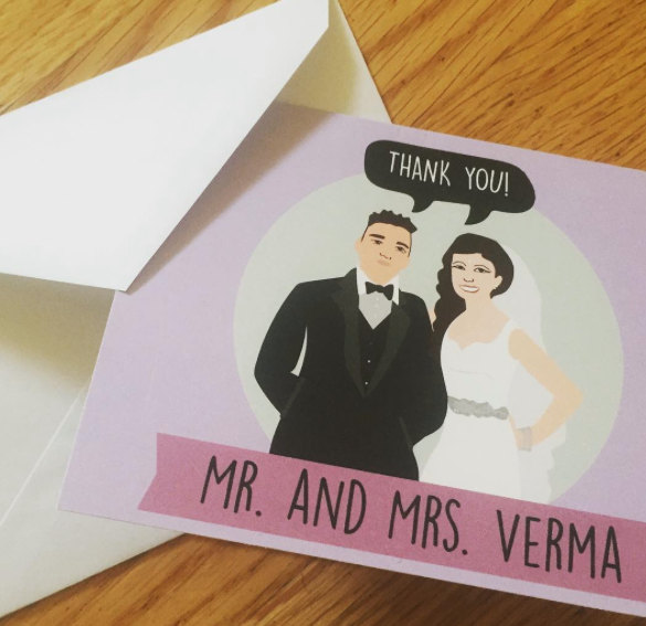 Mariage - Personalized Wedding  Thank You Cards