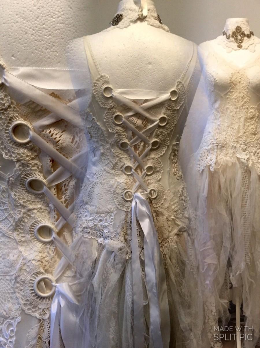 lace wedding dress unique bridal gownlace statement