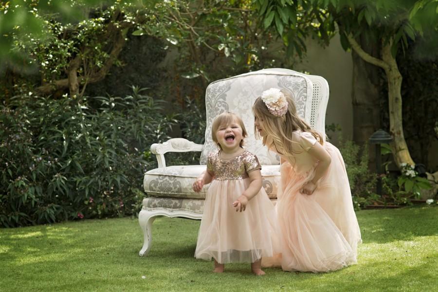زفاف - Mum's Girl Flower Girl Dress Qeturah - Apricot