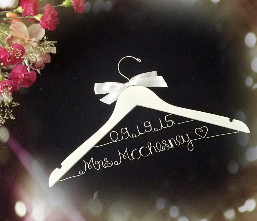 grand opening l 2 line personalized bridal hanger customized