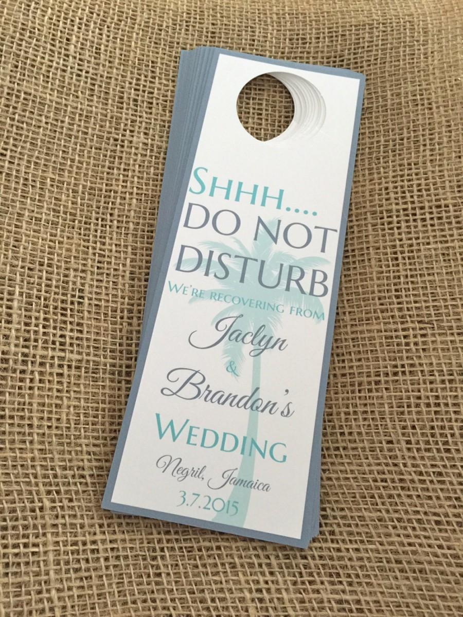Wedding - Wedding Door hangers for Destination/Beach Wedding- Customizable Aruba, Jamaica, Turks and Caicos, Punta Cana, Bahamas, Hawaii and more!