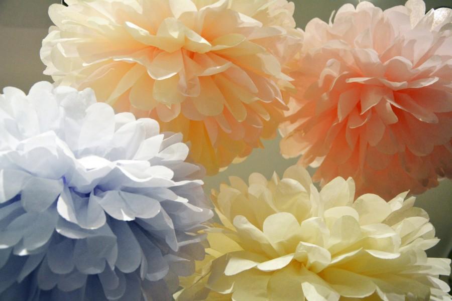 40 Tissue Paper Pom Poms Any Color Wedding Pom Poms Wedding Enchanting Tissue Paper Balls For Decoration
