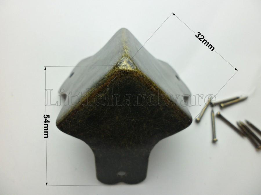 4pcs 54mmx54mmx54mm big antique brass color vintage jewelry box