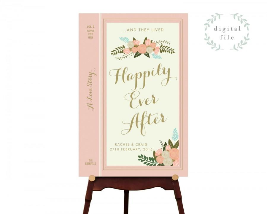 Свадьба - PRINTABLE Wedding Welcome Sign // Welcome Wedding Sign // Vintage Wedding Sign // Book Theme Wedding Sign // Reception Sign // PRINTABLE