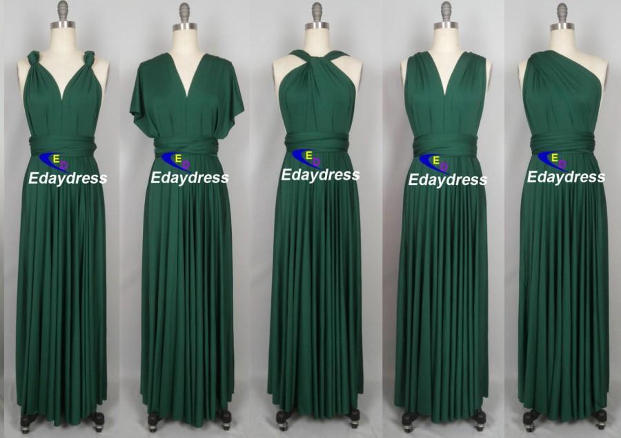 a6c144f176a Ever Green Floor Length Ball Gown Long Maxi Infinity Dress Convertible  Formal Multiway Wrap Dress Bridesmaid Dress Party dress Evening Dress