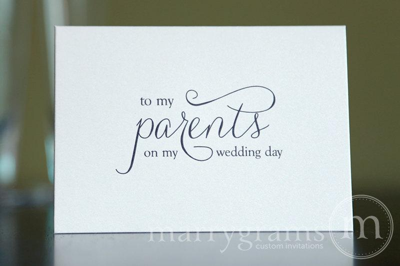 ... - Parent Wedding Gift Card - To My Parents on My Wedding Day CS01
