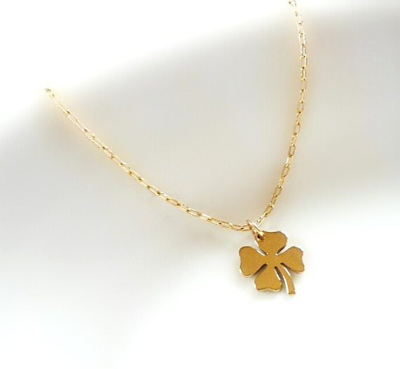Four leaf clover necklace clover necklace in gold necklace four leaf clover necklace clover necklace in gold necklace minimalist layered necklace shamrock pendant birthday gift best friend gift aloadofball Gallery