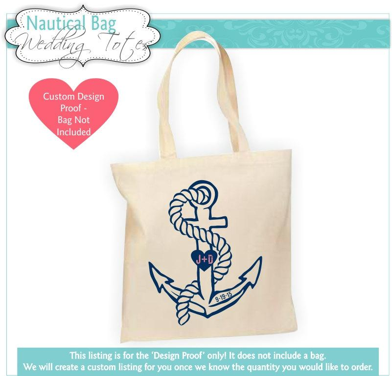 Destination Wedding Bag Proof Welcome Nautical Tote Anchor Favor Gift