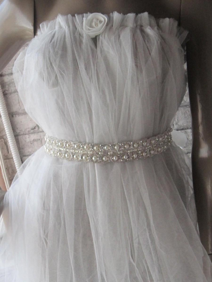 Dress wedding sashes with crystals