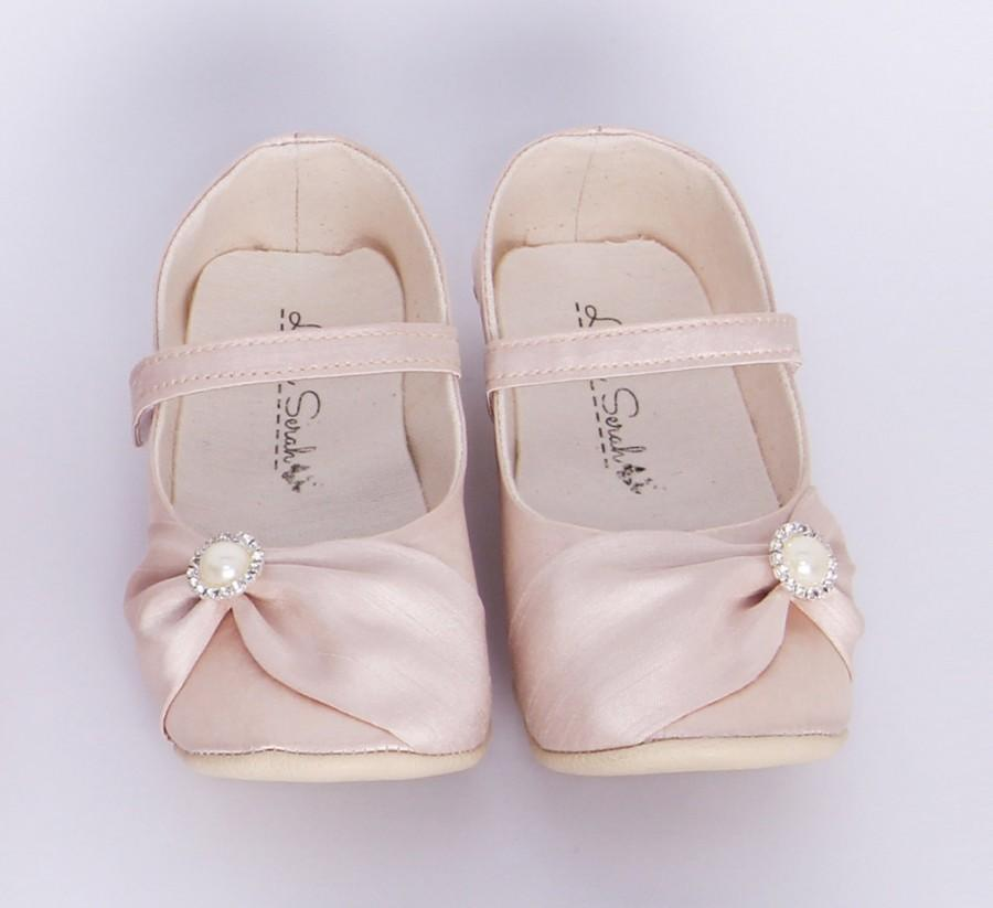 nude toddler shoes champagne baby shoes wedding shoes flower girl shoes wedding flats toddler girl shoes handmade baby shoes