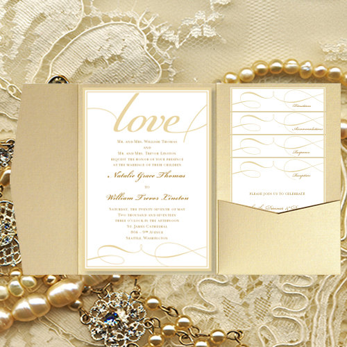 diy pocket wedding invitations it s love champagne gold printable