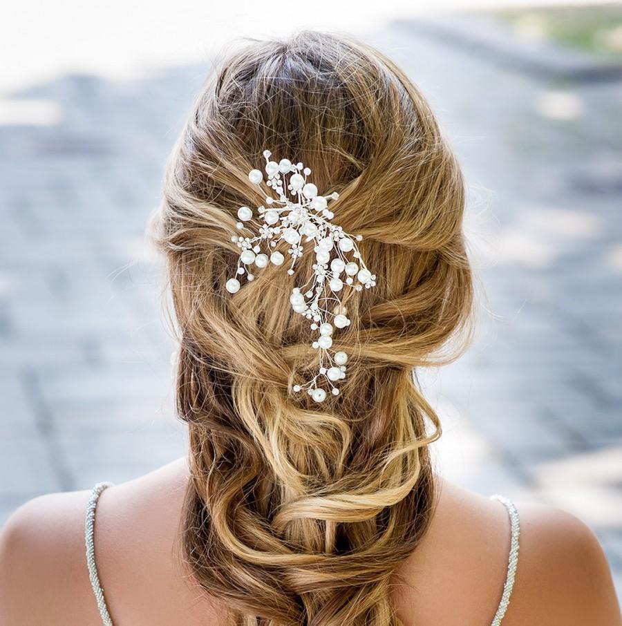 large pearl wedding comb