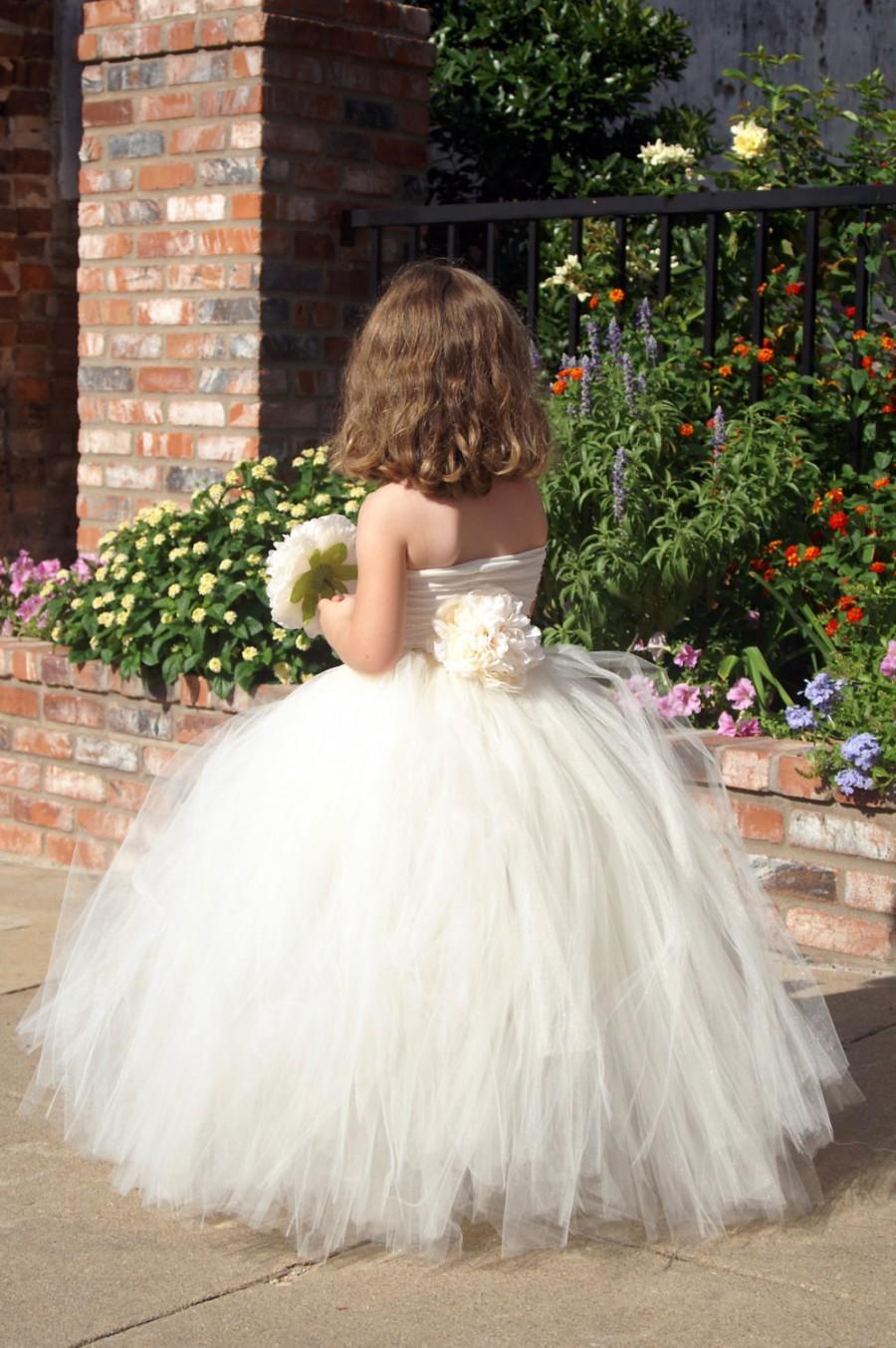 Tulle Flowergirl Skirt - Tutu Skirt For Your Flowergirl Or Fairytale ...