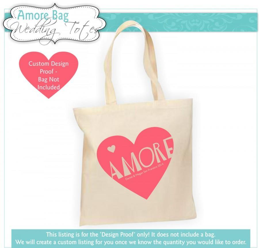 Do You Give A Gift For A Destination Wedding: Destination Wedding Welcome Bag, Wedding Tote Bag, Amore