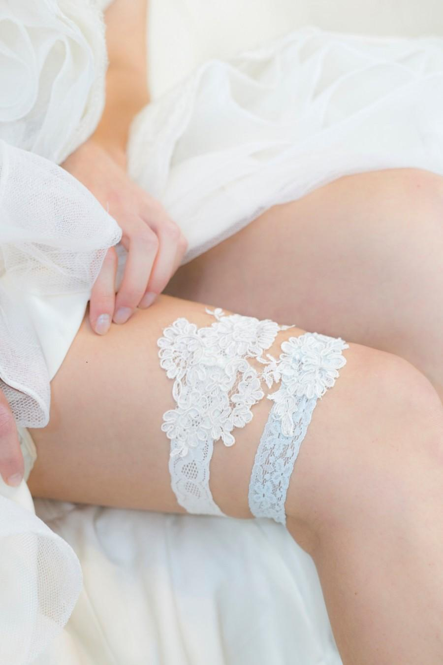 Hochzeit - Wedding Garder - Lace Garter - Wedding Garter Set - Bridal Garter