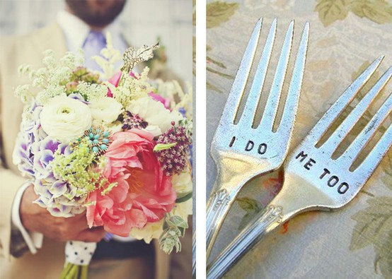 Mariage - I Do Me Too  Wedding Fork Set. Featured In Martha Stewart Weddings May 2011