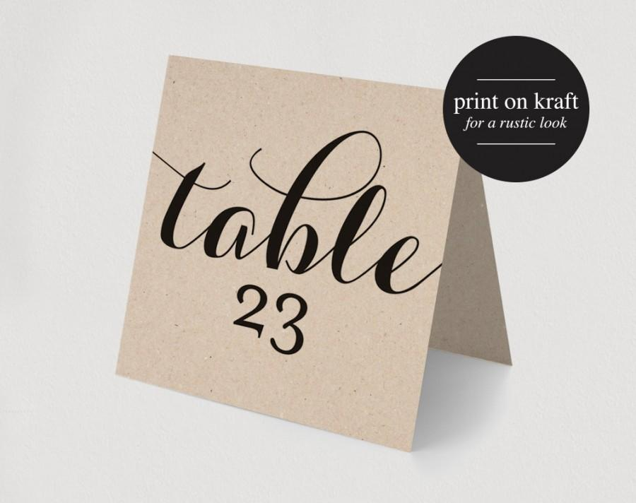 Printable table numbers printable wedding table numbers for Table numbers for wedding reception templates