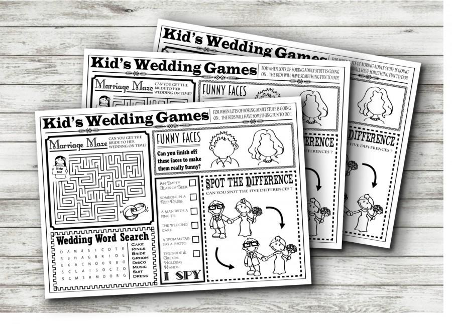 wedding kids activity sheet instant download - Kids Activity Sheet