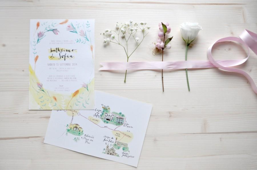 Свадьба - Custom stationery and illustrated map - wedding, baby shower, bridal shower