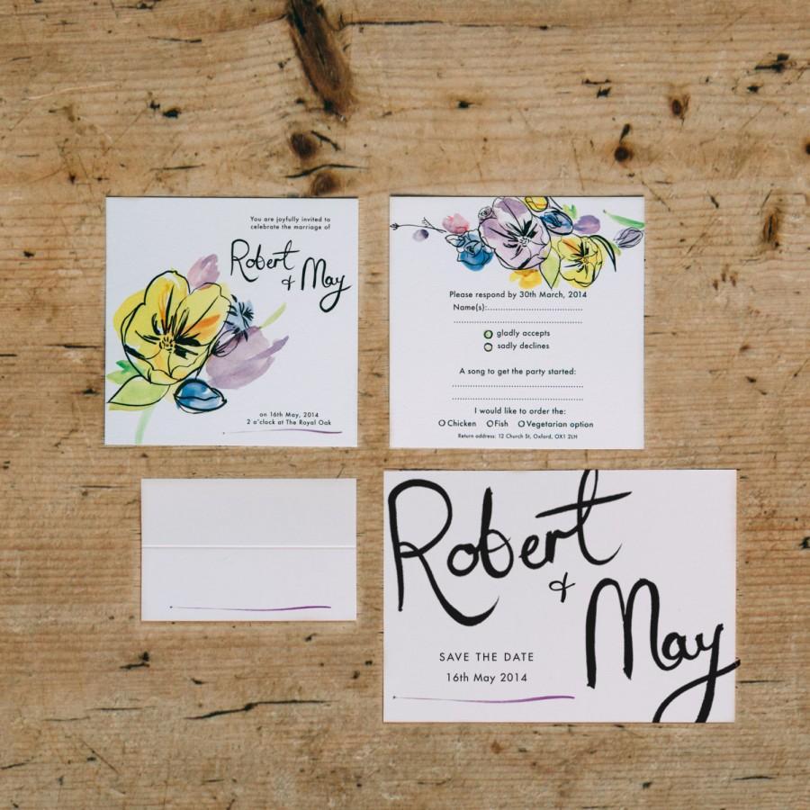 زفاف - Spring Fete Wedding Invitation Set by Dearly Beloved