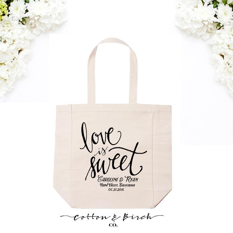 Colorado Wedding Gift Bag Ideas : Bag //Calligraphy Tote Bag //Wedding Welcome Bags //Wedding Guest Bags ...