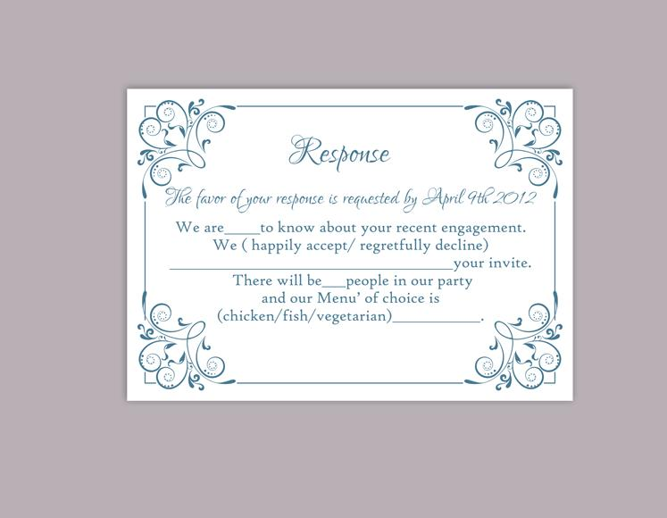 DIY Wedding RSVP Template Editable Word File Instant Download ...