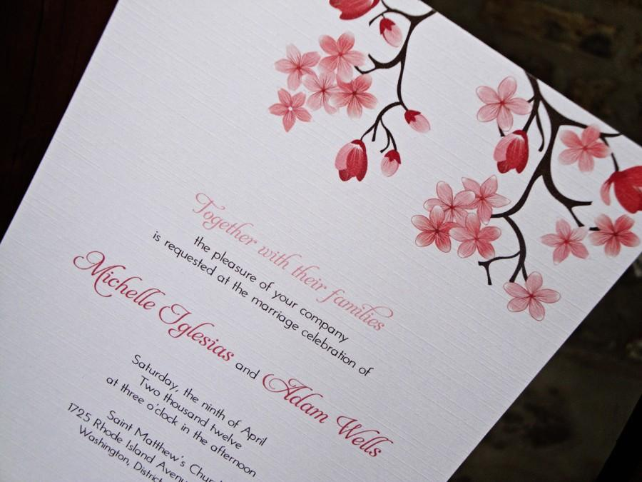 Printable Cherry Blossom Wedding Invitation #2466026 - Weddbook