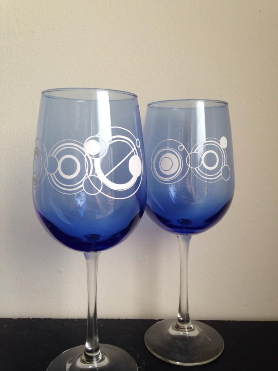 Mariage - Mr and Mrs wine glasses