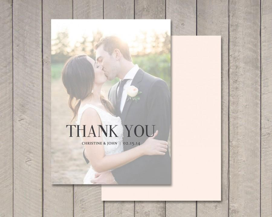 Wedding Thank You Card Flat Or Folded