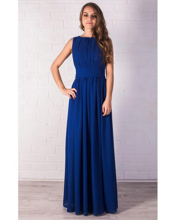 Royal Blue Bridesmaid Dress Cobalt Lace Prom Evening Tail