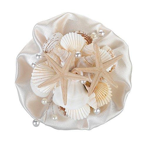 Hochzeit - Small Coastal Seashell Bouquet, 6-Inch