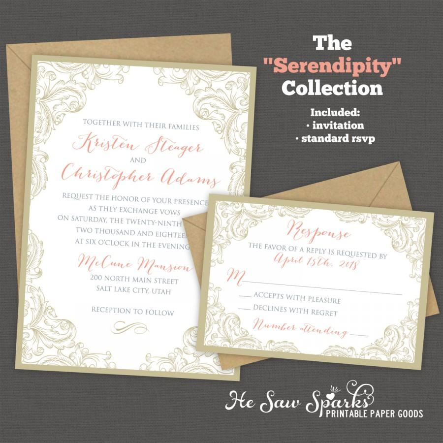 Printable Wedding Invitation - Serendipity #2466190 - Weddbook