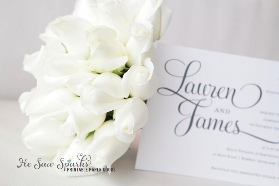 زفاف - Printable Wedding Invitation - DIY - Ashley Suite