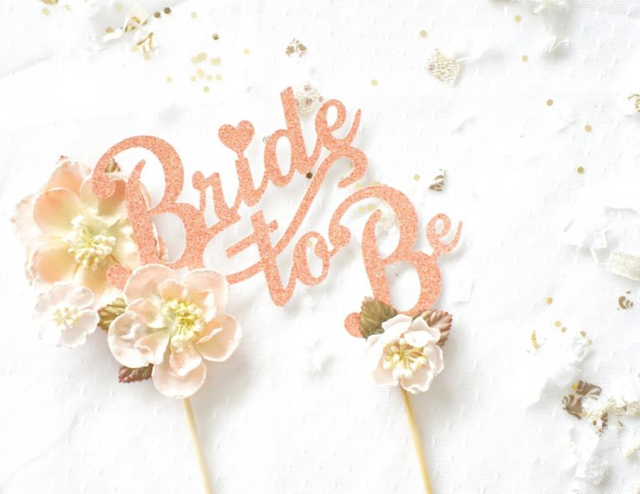 Gold Sparkle Wedding Cake Topper