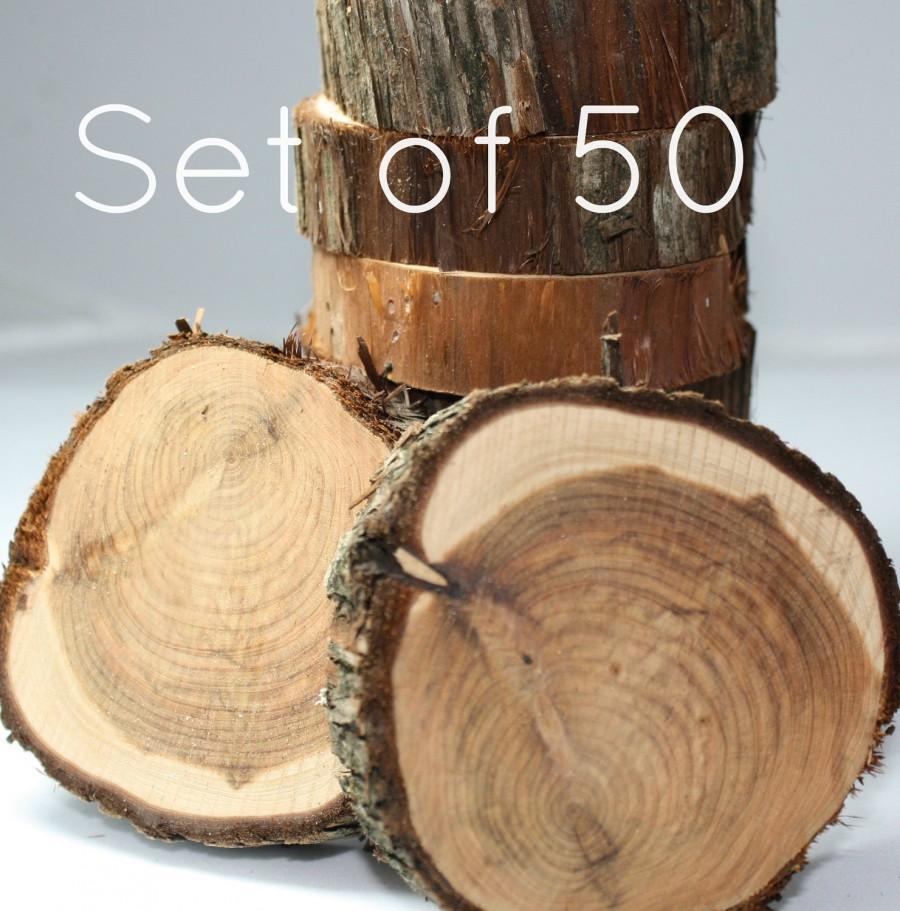 Cedar Circles Set Of 50 Appx 3 4 X 1 Rustic Natural Wood