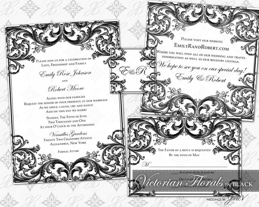 DIY Printable Wedding Invitation Template Set 2466314 Weddbook