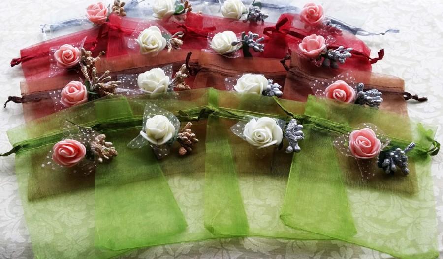 Organza bags wedding favor bags candy drawstring bags