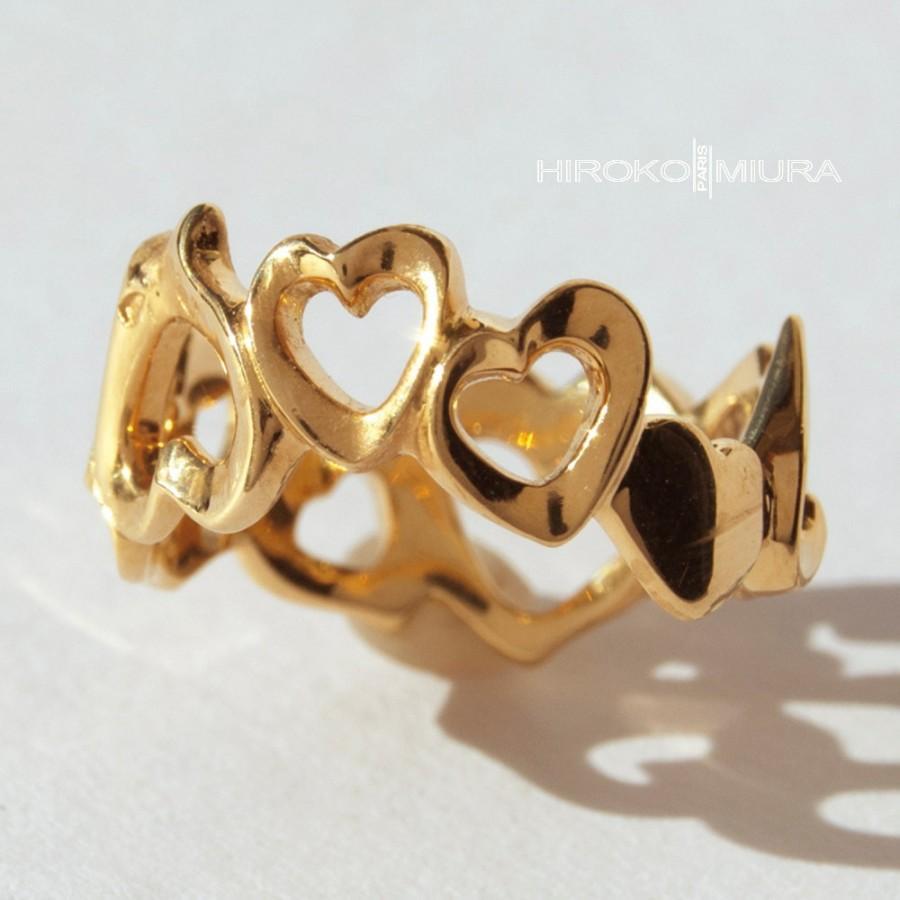 Свадьба - Ring cores 'Courage' small multi-core model mpm yellow gold Creation HIROKO MIURA handmade wedding, engagement