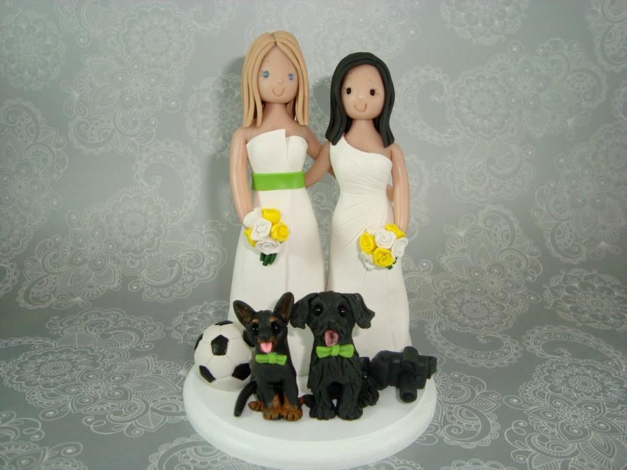 Hochzeit - Cake Topper Customized Same Sex Wedding