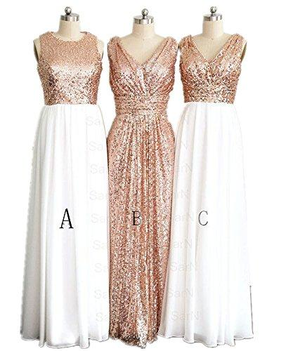 Wedding - Rose Gold Sequins Bridesmaid Dress