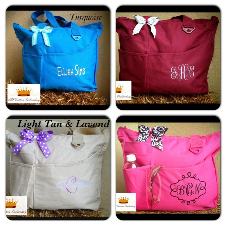 Personalized Super Tote 26 BAG Colors To Choose From