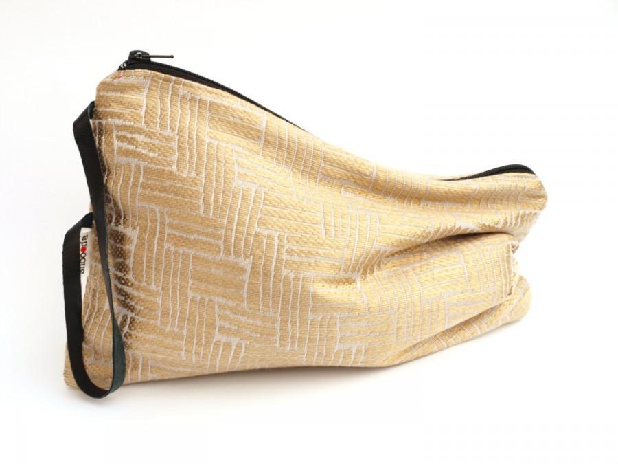 Свадьба - Gold clutch purse, Evening handbag, Zippered clutch bag, Jacquard evening purse, Special occasion bag, Wedding purse.