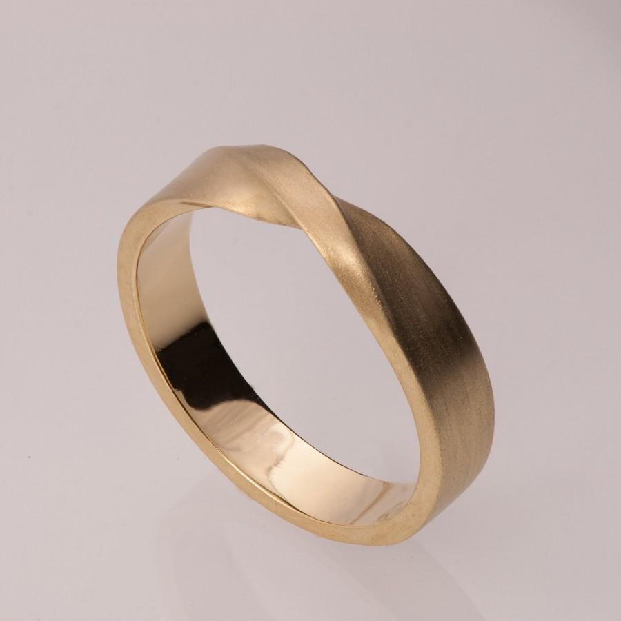 mobius ring 14k gold ring wedding ring gold wedding