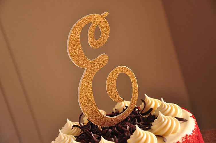Свадьба - Initial Cake Topper.  Ships in 2-5 Business Days.
