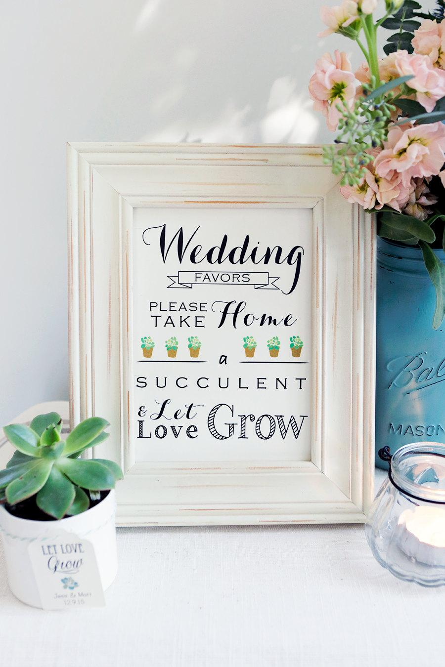 Instant Download Let Love Grow Sign Please Take Your Favor