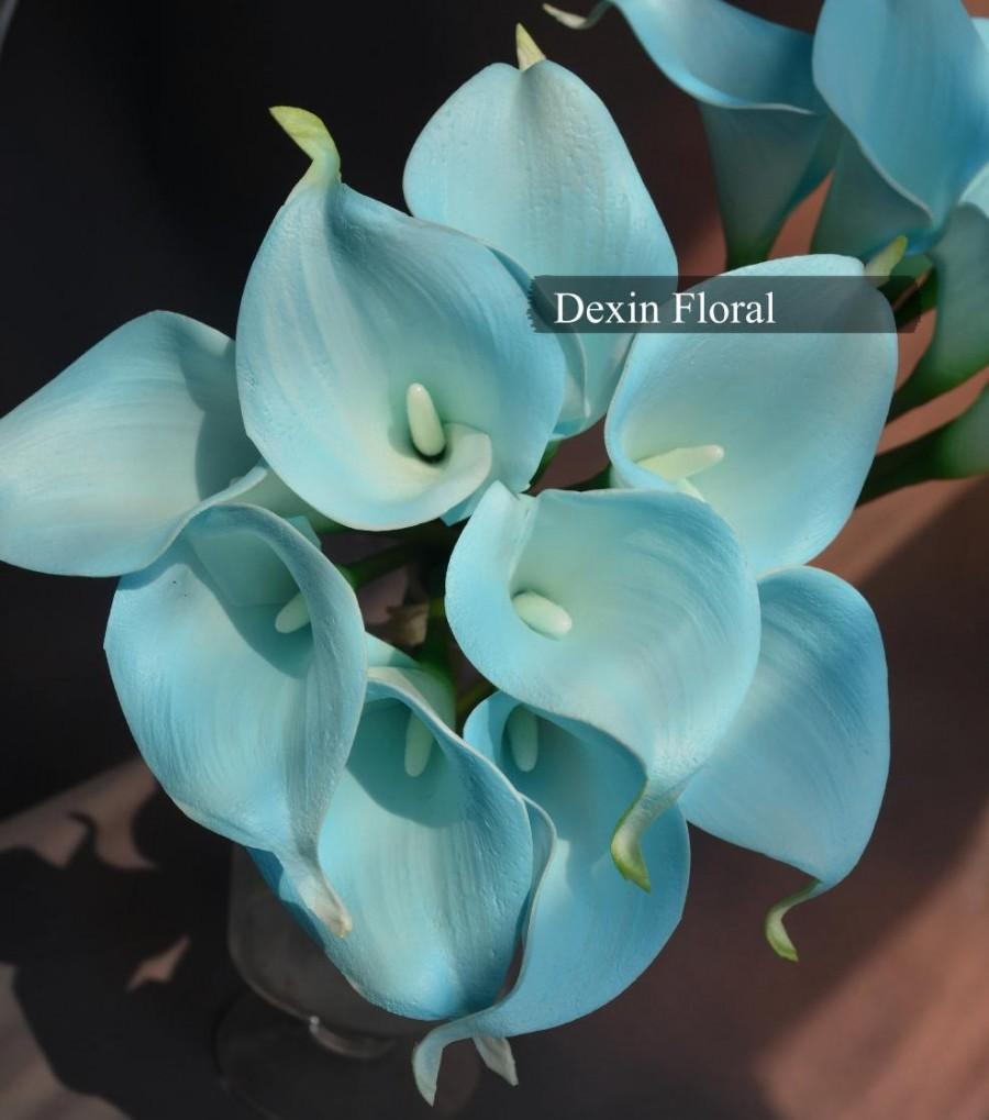 9pcs real touch light aqua blue calla lily stems turquoise for silk 9pcs real touch light aqua blue calla lily stems turquoise for silk wedding bouquets centerpieces wedding flowers mightylinksfo
