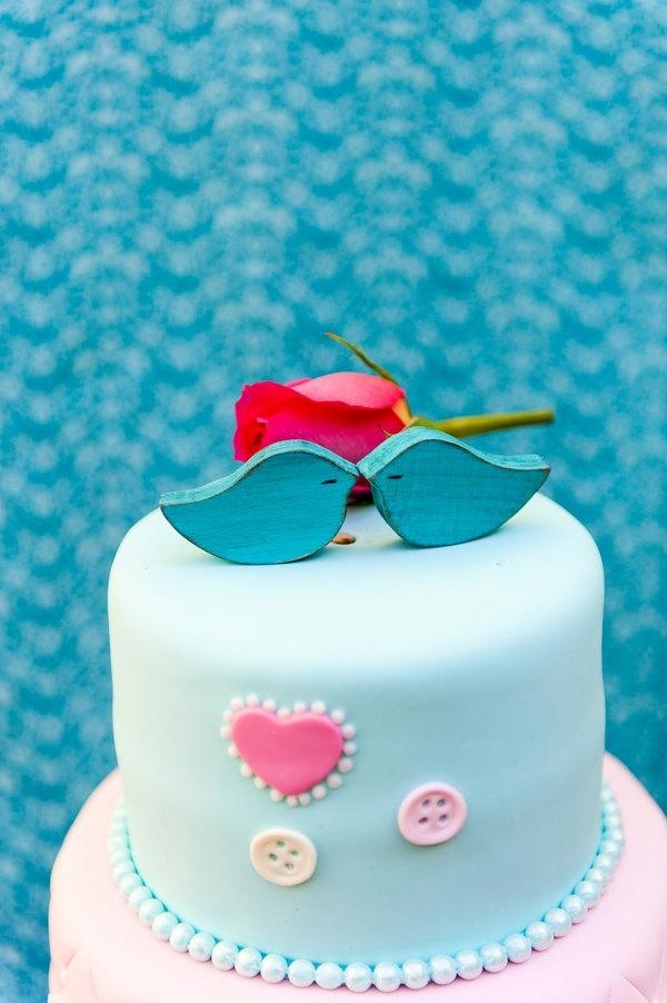 "Mariage - mini cake toppers, tiffany love bird cake toppers, blue birds mini blue wedding cake toppers wood cake toppers tiffany, ""SET of  2"""